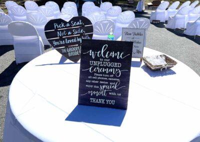 Jocelyn and Matt's Outdoor Wedding Ceremony Table