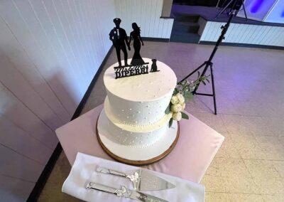 Jocelyn and Matt's Outdoor Wedding Cake