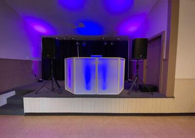 Jocelyn and Matt's Outdoor Wedding DJ Set Up