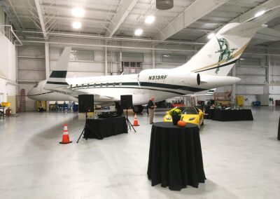 Rectrix Aerodome Center DJ Set Up with Airplane