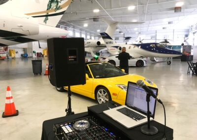 Rectrix Aerodome Center DJ Set Up with Car and Airplane