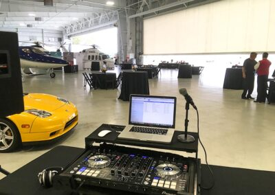 Rectrix Aerodome Center DJ Set Up with Helicopter